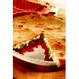 Upside-Down Deep Dish Pizza.