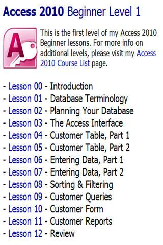 599CD Teaches Microsoft Access- screenshot