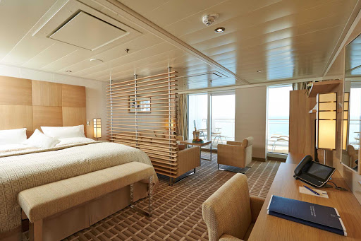 In Europa 2's Grand Suite, you'll find contemporary stylings, spacious accommodations of more than 400 square feet and a private veranda.