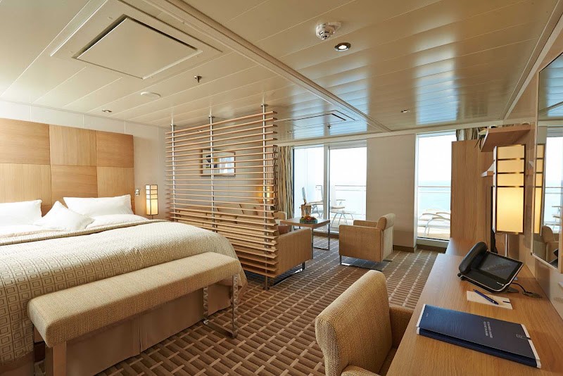 Show name and urlIn Europa 2's Grand Suite, you'll find contemporary stylings, spacious accommodations of more than 400 square feet and a private veranda.