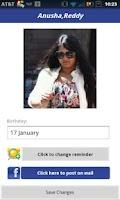 Screenshot of Birthday Reminder Facebook