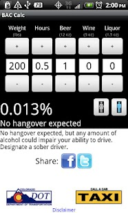 R-U-Buzzed? BAC Calculator - screenshot thumbnail