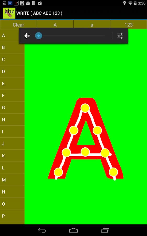 Write ( ABC  123 ) - screenshot