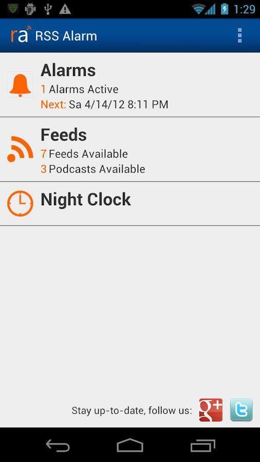 RSS Alarm Lite- screenshot