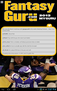 FantasyGuru.com's MyGuru - screenshot thumbnail