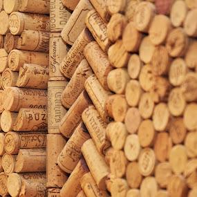 corks by Carmel Bation - Abstract Patterns ( wine, wine corks, cork )