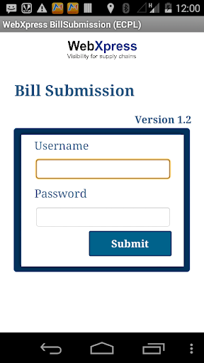 WebX Bill Submission Ecpl Live