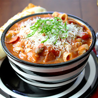 Pizza Noodle Soup (Crockpot Recipe) Recipe