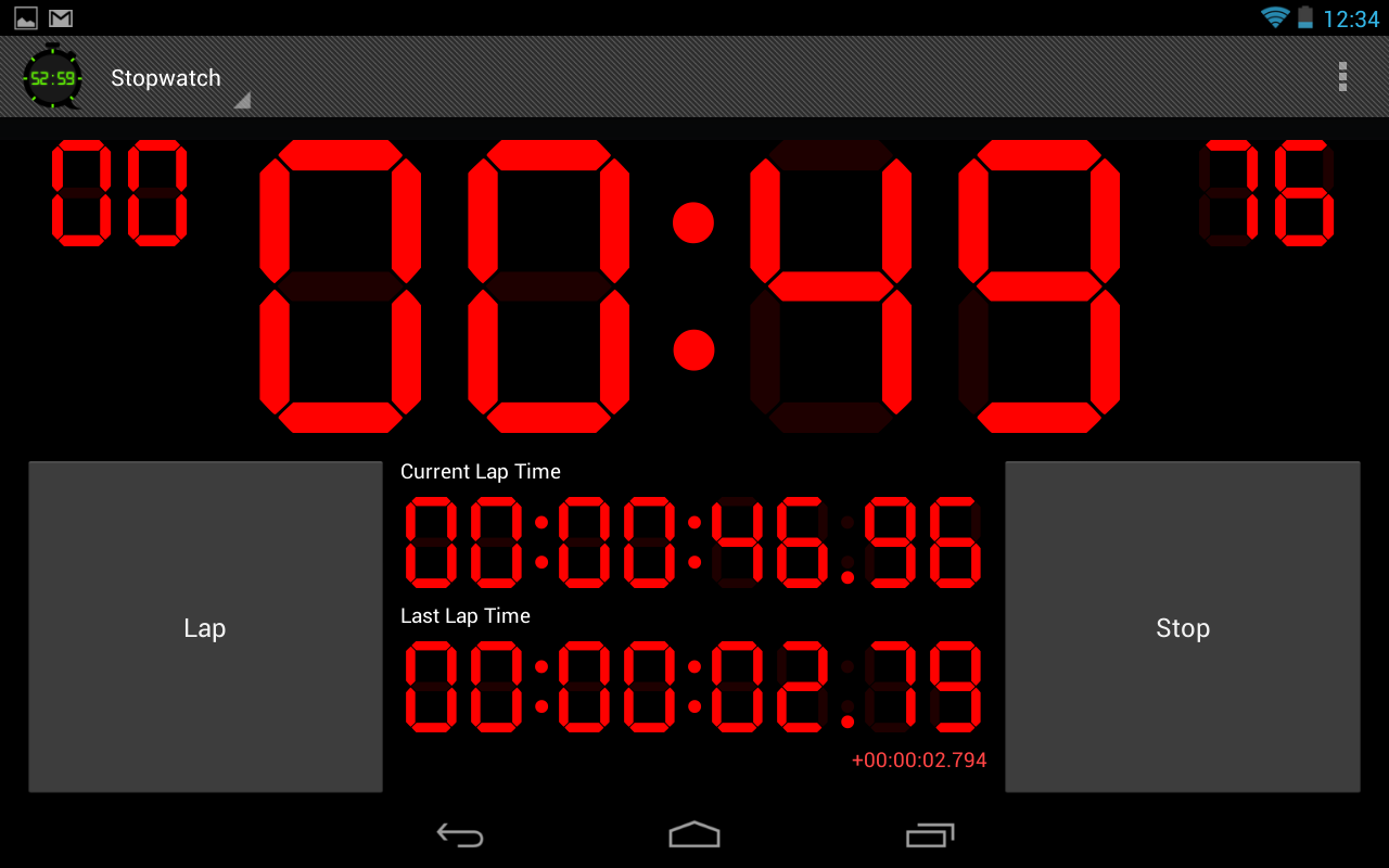 Digital Stopwatch & Timer - screenshot