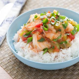 New Orleans-Style Shrimp Etoufee with Jasmine Rice.