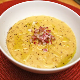 Greek Yellow Split-Pea Soup with Red Onion and Lemon