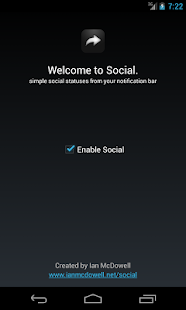 Social (notification sharing) - screenshot thumbnail