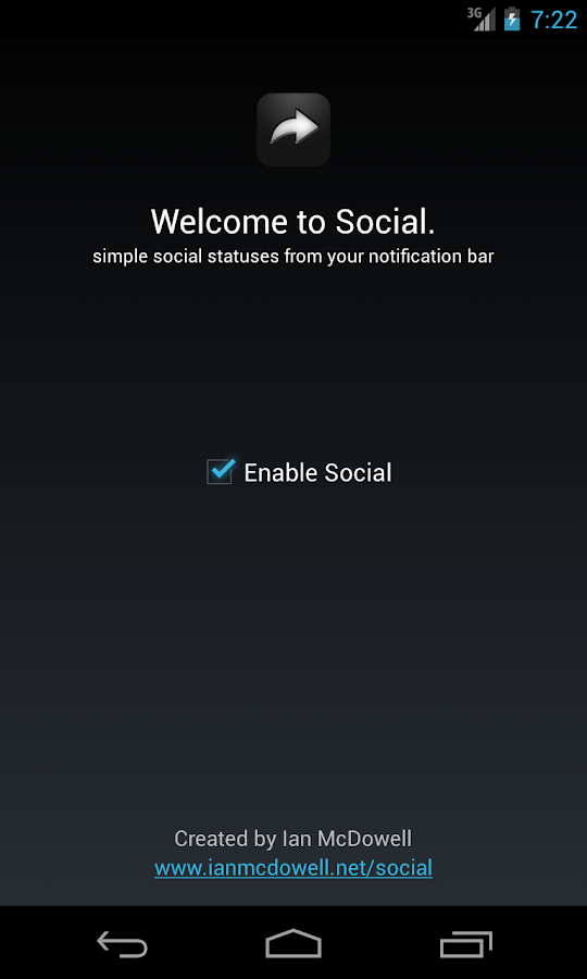 Social (notification sharing) - screenshot