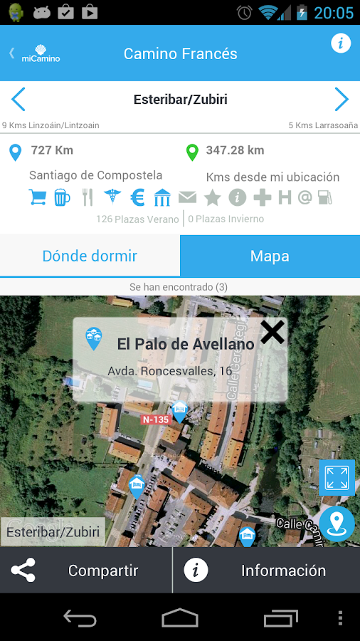 my Camino de Santiago Mobile- screenshot