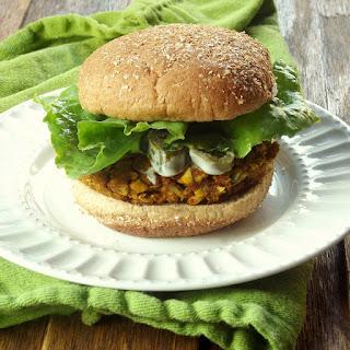 Cauliflower Chickpea Masala Burgers