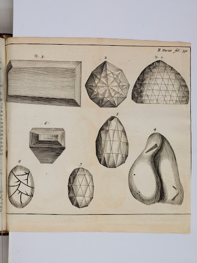 Various diamonds including the Great Mogul from Tavernier's Les six voyages de Jean Baptiste Tavernier