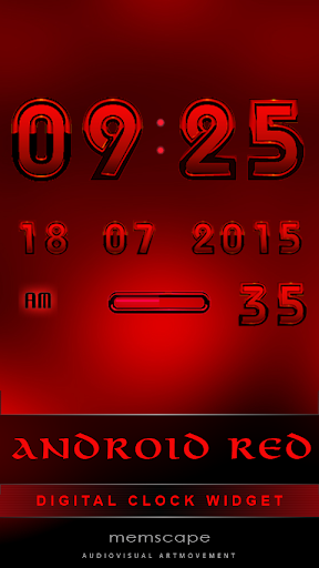 Digital Clock ANDROID RED