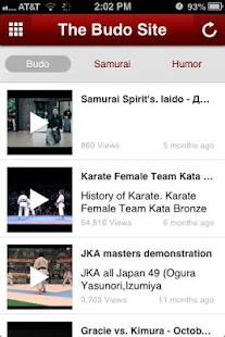 The Budo Site - screenshot thumbnail