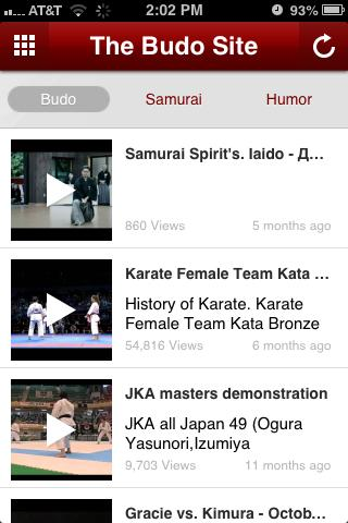 The Budo Site - screenshot