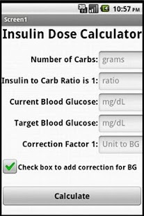 Insulin Unit Calculator- screenshot thumbnail