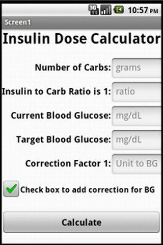 Insulin Unit Calculator- screenshot