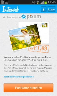 Pixum Instacard Postkarte - screenshot thumbnail