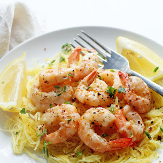 Light Shrimp Scampi with Spaghetti Squash