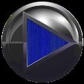 poweramp skin metal blue wood icon
