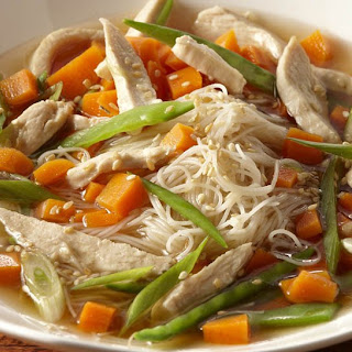 Sesame Ginger Chicken Noodle Soup.
