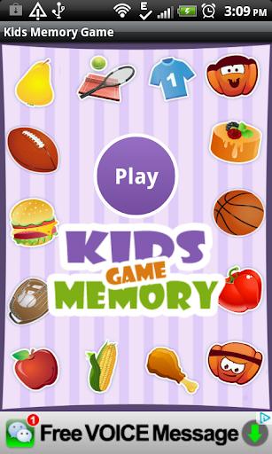 Memory Kids Game