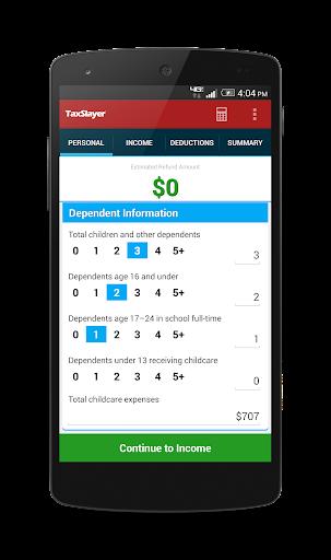 TaxSlayer Refund Calculator