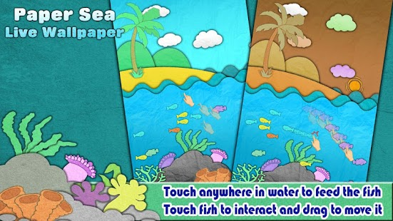 Paper Sea Live Wallpaper- screenshot thumbnail