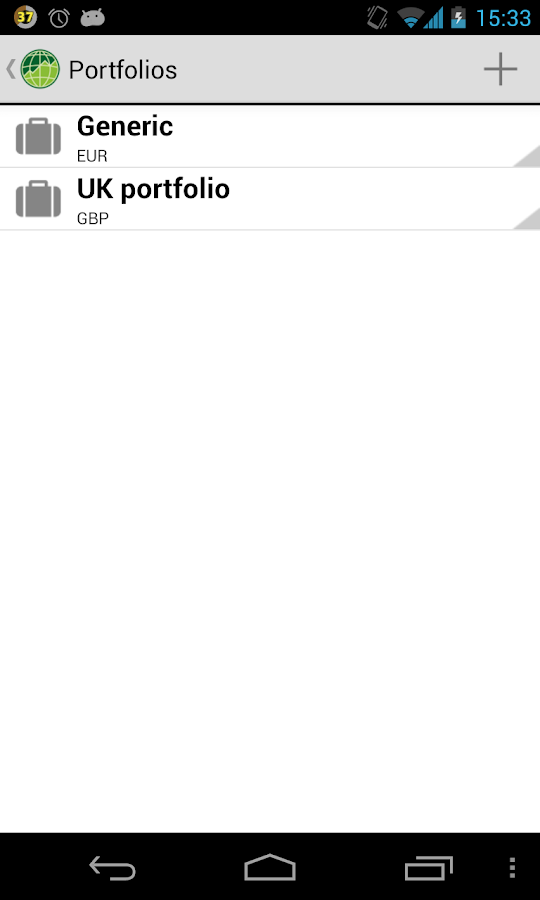 Stocks Portfolio - screenshot