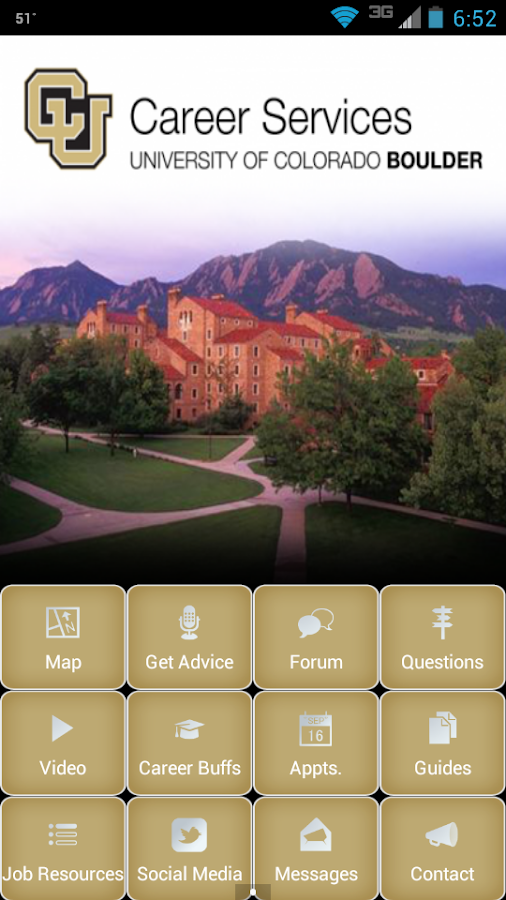 CU Boulder Career Services - screenshot