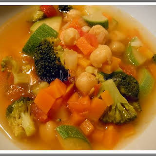 Vegetable and Garbanzo Bean Soup.