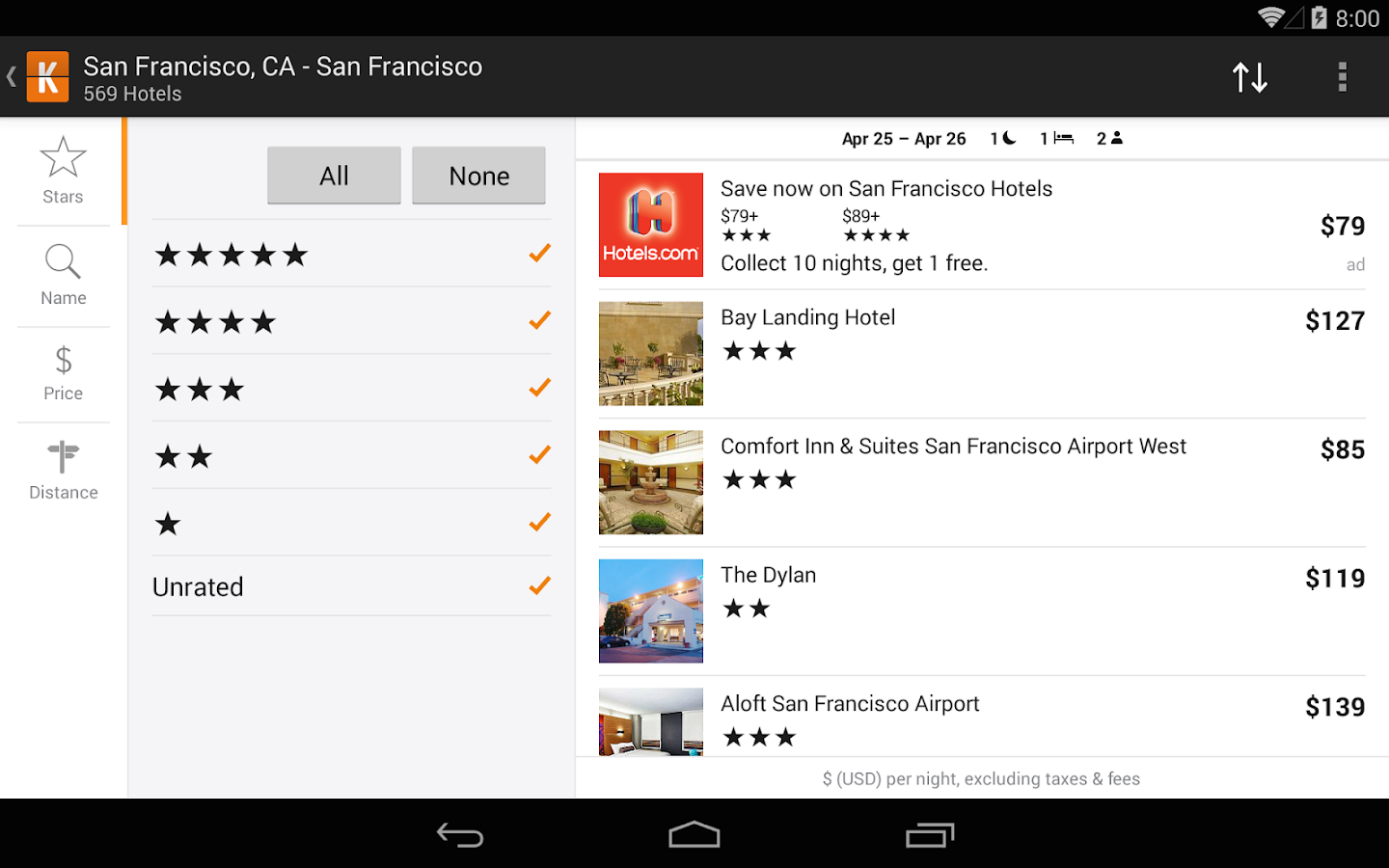 KAYAK Flights, Hotels & Cars- screenshot