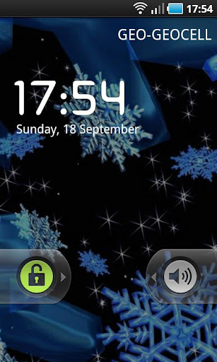3D Animated Snowflakes LWP v3.0.3