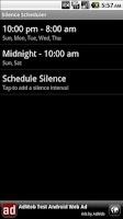 Screenshot of Silence Scheduler