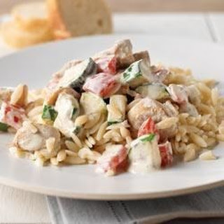 Creamy Italian Chicken and Orzo Skillet
