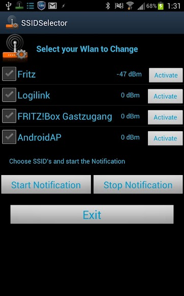 SSID Selector with WiFi Widget 0400015