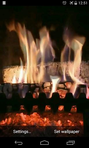 暖炉のビデオライブ壁紙