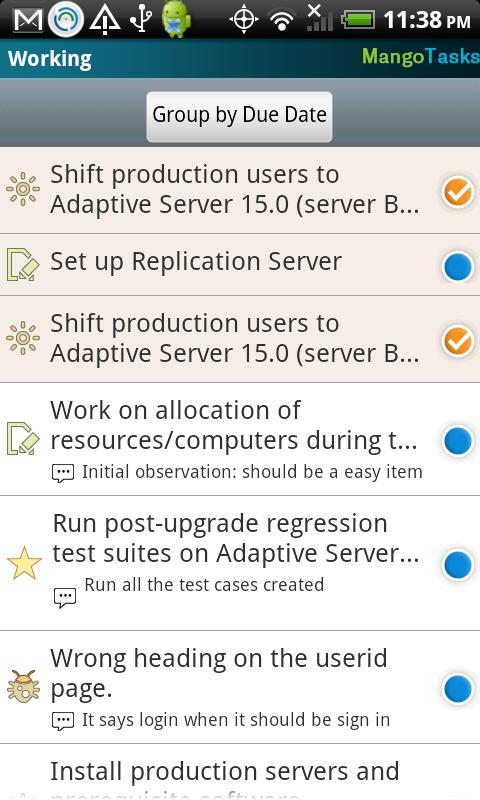 MangoTasks- screenshot