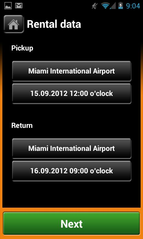 Sixt Rent a Car - screenshot