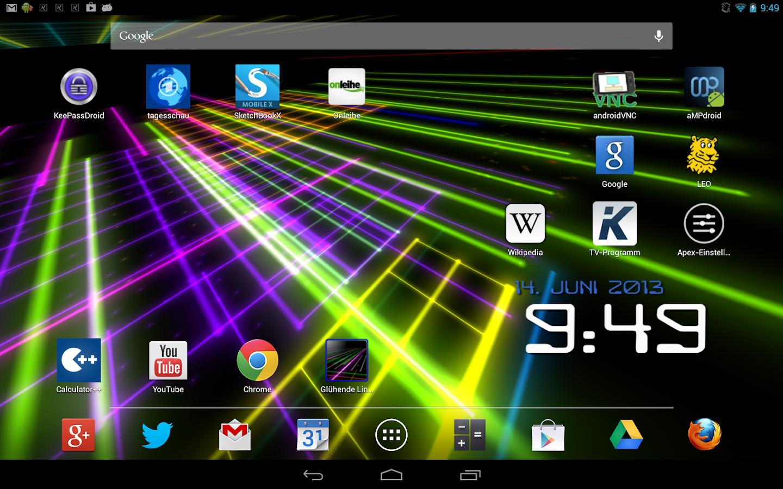 Tron live wallpaper - Glowing Lines Live Wallpaper Screenshot