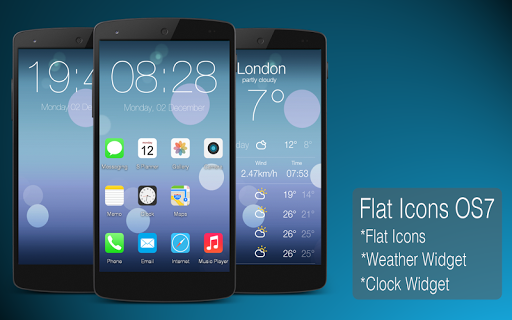 Flat Icons OS7 -Multi Launcher