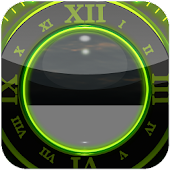 Green Glow Magic Clock Widget
