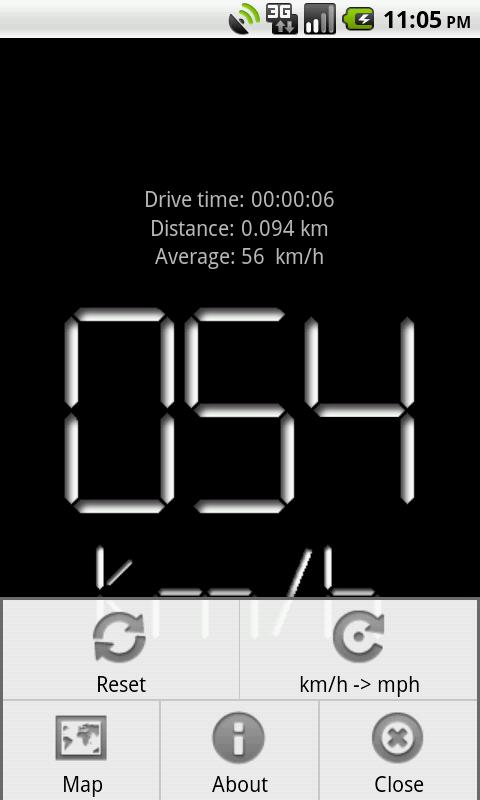 Digital Speedometer Free - screenshot