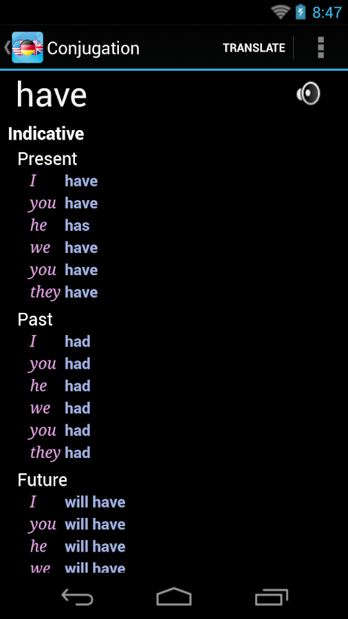 German English Dictionary + - screenshot