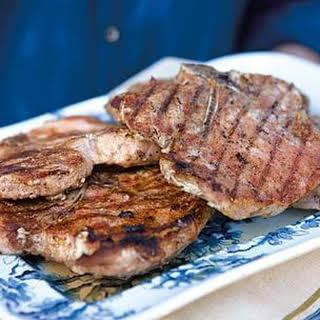 Grilled 5-Spice Pork Chops.
