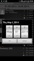 Screenshot of Advanced Call History